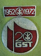 DDR DISTINTIVO-distintivo ricordo - 20 anni GST - 1952 a 1972-in astuccio