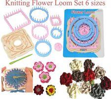 Knitting Flower Pattern Loom Set,Round Square Hexagon 6 Size,Flower Pattern Tool