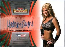 TNA Madison Rayne 2010 Tristar New Era GREEN Authentic Autograph Card SN 19 / 25