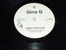 """Gina G-más alto que el amor - 1997 Reino Unido 4-Remix Dj Promo Single vinilo de 12"""""""