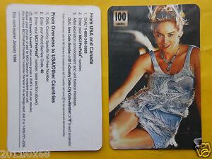 1998 phone cards 100 units sharon stone schede telefoniche 1998 telefonkarten gq