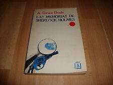 LAS MEMORIAS DE SHERLOCK HOLMES LIBRO DE CONAN DOYLE PRIMERA EDICION DE AÑO 1981