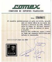 Sellos de España 1951 Visita Caudillo a Canarias 1090 Certificado Comex ref.04