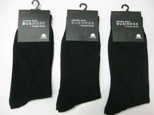 12 Pairs Premium Cotton Black Men's Business Dress work Socks: 6-11, 11-14