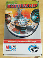 Battleships Game- MB Games To Go Travel (missing 2 ships)