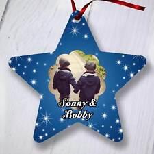 Ornamento del árbol de Navidad Personalizado Decoración-Star-azul oscuro Estrellas