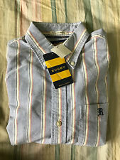 Rugby Ralph Lauren Striped Oxford Shirt Slim Fit Small $89.50