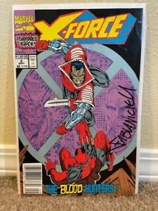 X-Force #2 (Sep 1991, Marvel) - Signed by Fabian Nicieza