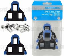 Genuine Shimano SM-SH12 SPD-SL Road Cleat Set Cleats 2° Blue w/Hardware