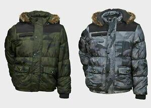 Minoti Boys Camouflage Padded Jacket