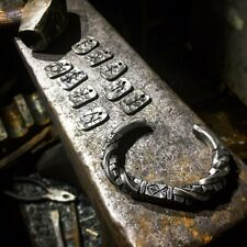 Hand Forged Cube twist Steel Viking Style Arm Ring Bracelet