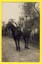 cpa SP 165 Carte Photo MILITAIRES SOLDATS du 60 ème Régiment CAVALIER CHEVAL