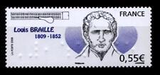 Erfinder Blindschrift Louis Braille. 1W. Frankreich 2009