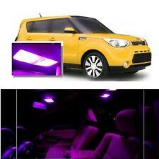 For Kia Soul 2014-2016 Pink LED Interior Kit + Pink License Light LED