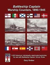 Battleship Captain Warship Counters, 1890-1945, Graber, Gary, Good Book