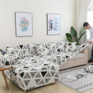 Corner Sofa Covers for Room Cover Stretch Slipcover  (L Shape Must Buy 2 Pieces)