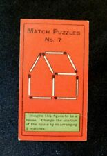 Rare Orig.1907 Sniders and Abraham Cigarette Tobacco Card Match Puzzles # 7