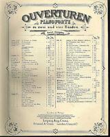 """Ouvertüre aus """" Alessandro Stradella """"  von F. v. Flotow , übergroße, alte Noten"""