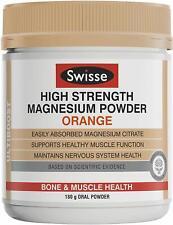 New Swisse Ultiboost High Strength Magnesium Powder, Orange, 180g Australia