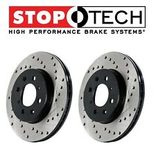 StopTech Set Rear Left Right Drilled Brake Rotors Fits Nissan 370Z Infiniti G37