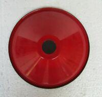 Vintage Electrical Light Lamp Shade Red Color & White Enamel Porcelain