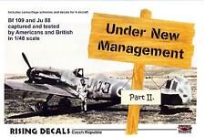 Rising Decals 1/48 UNDER NEW MANAGEMENT Part 2 Captured German Aircraft