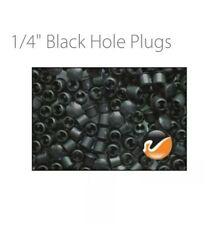 New 10 Black Colored Plastic HOLE PLUGS 1/4 inch(8mm) Cars Cabinets Patio Vinyl