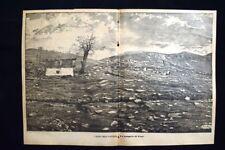 I danni delle valanghe - La borgata di Fasi Incisione del 1886