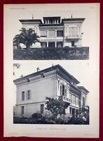 Cannes en 1920 Villa Robert Architecte Rigollet Côte d'Azur Alpes Maritime