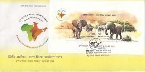 India MS FDC Asian & African Elephants Wild animals Wildlife Mammals elefant