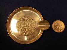 "NEAT OLD VTG MEXICAN STERLING SILVER ""AZTEC SUN DIAL"" CIGARETTE SMOKING ASHTRAY"