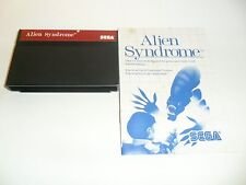 alien Syndrome  (Sega Master, 1988) from collector with manual Tested
