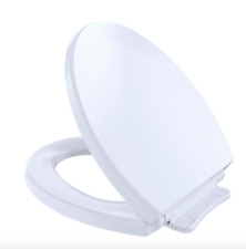 Bathroom Round Toilet Seat Lid Cover Closed Front Soft Slow Close White Hardware