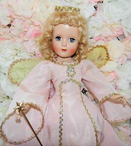 "Vintage GOOD FAIRY 18"" Hard plastic MADAME ALEXANDER doll Orig & tagged clothes"