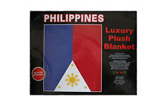 """Philippines Country Flag Luxury Plush Blanket Bedspread.79"""" X 94"""" Inches"""