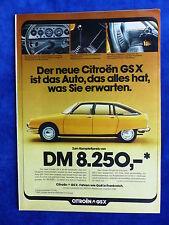 Citroen GS X - Werbeanzeige Reklame Advertisement 1974 __ (830