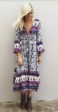 Spell Designs BNWT Sz XS Gypsy Love Boho Midi Dress Blue - Sold Out Style