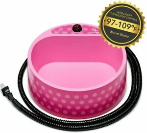 """Petfactor 2.2L Heated Water Bowl Outdoor Thermal Control 69"""" Chew Resistant Cord"""