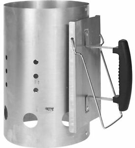 Grillmeister Barbecue BBQ Chimney Starter Charcoal Grill Steel Rapid Quick Fire