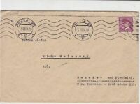 czechoslovakia 1936 stamps cover ref 21010