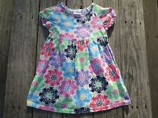 Hanna Andersson ~ Girls Nordic Floral Print Dress ~ Size 110 or 4-6
