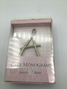 """Lillian And Rose Wedding Cake Monogram Cake Topper 2.5"""" Choice of Letters Gold"""