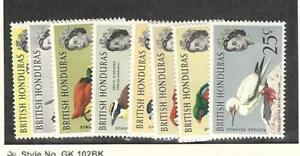 British Honduras, Postage Stamp, #167-174 Mint Hinged, 1962 Birds