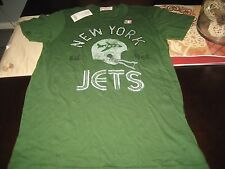 WOMENS JUNK FOOD NFL NEW YORK JETS RETRO SHORT SLEEVE T SHIRT LARGE GREEN  NWT acec82add