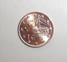 2002 Greece 1 euro cent, Ancient Athenian Trireme War Ship, coin
