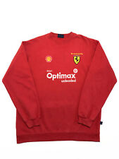 Dickies Vintage Shell Optimax Ferrari Crew Neck Sweatshirt Size XL Red