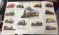 Vintage Association American Railroad Locomotives Railway poster trains