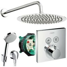 Unterputz Duschsystem mit Kopfbrause, iBox, Hansgrohe Shower Select Thermostat