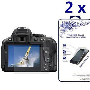 [2x] Ballistic Tempered Glass Screen Protector For Nikon D5300 D5500 D5600
