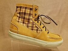 Timberland 73194 Men Shoes Plaids Brown High Top Fashion Sneakers Size 10.5 M